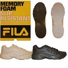 Внешний вид - Womens Fila Workshift Non Skid Slip Resistant Memory Foam Work Shoes Black White