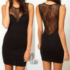 Sexy Back Lace Womens Cocktail Party Clubwear Mini Dress AU SELLER dr076