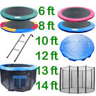 6 8 10 12 13 14 FT TRAMPOLINE REPLACEMENT PAD SAFETY NET RAIN COVER LADDER SKIRT