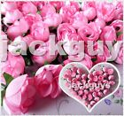 Roses Artificial Silk Flower Heads Wholesale Lots Wedding Decor Pink 50 100 200