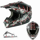 Nitro G-MAC Sting MX Motorcyle Motorbike Motorcross Helmet Poly Carbonate Shell