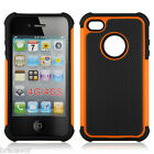 Triple layer impact Defender: Protective Back case for Apple iphone 4/4s mobile
