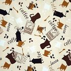 "COTTON COFFEE CAFE SOFA CHAIR TABLE TOP UPHOLSTERY COVERING FABRIC 6 VARIES 44""W"