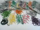 100 Pack Treasury Tags Plastic Ended 10 Sizes with Various Coloured Cords