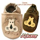 Brown Boy/Girl Soft Leather Baby Shoe Cheeky Lion Walker Kids Pram Toddler 0-18M