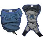 WASHABLE Female Dog Diaper Pants LINED Waterproof Small Medium Large XXS - XXXL