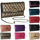 Big Handbag Shop New Multipockets Quilted Faux Leather Evening Party Clutch Bag