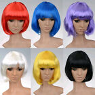 New BOB Style Fashion Sexy Short Curly Cosplay Women Hair Straight Full Wigs Hot