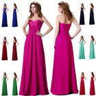 UK SELLER !! Women's Bridesmaid Prom Long Dress Formal Cocktail Evening Ballgown