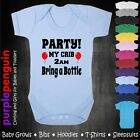 Party My Crib 3am Baby Grow Vest Bodysuit Gift Present New Funny Free Postage