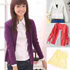 V-neck Wild Thin Section Solid Color Knit Cardigan WF-4941 CNP