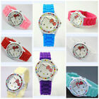 PRETTY HELLO KITTY MULTI CRYSTAL WRIST WATCH JELLY GIRLS GIFT UK SELLER