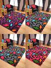 Multi Colour Rug Mat Bright Soft Thick Hand Carved LAST FEW REMAINING