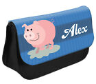 PERSONALISED Piggy Pencil Case Make up Bag - Kids School Great Gift Idea DS