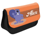 PERSONALISED Beaver Pencil Case Make up Bag - Kids School Great Gift Idea DS