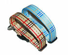 Strong and High Quality Classic Check Polyester dog collar- XS, S, M, L