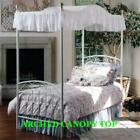"""Twin Size ARCHED Canopy top -LT BLUE EYELET 44""""wide x 89"""" long or custom size image"""