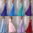 2014 Chiffon Celeb Long Formal Evening Bridesmaid Dress Cocktail Prom Ball Gowns