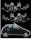 Flower/butterfly Graphic X2 Vinyl Car Stickers/decals Any Colour