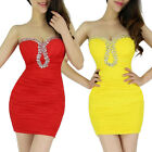 NEW Womens Sexy Strapless Mini / Short Cocktail Prom Party Ball Evening Dress