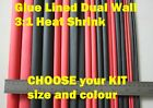 Kits fr $12.50  WATERPROOF Wire Insulation DUAL WALL GLUE LINED heat shrink tube