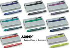 Lamy Fountain Pen Ink Cartridges T10 - All Colours & Multiple Packs Available