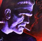 Franky by Mike Bell Frankenstein Monster Smoking Cigarette Canvas Giclee