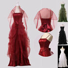 CHIC Formal SATIN Spaghetti straps Dress EVENING PROM DRESS LONG GOWNS Size 6~20