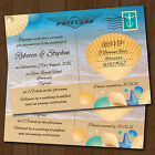 Beach / Abroad Personalised Wedding Invitations Day or Evening *Seaside Postcard