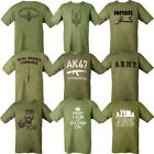 MILITARY T-SHIRT 100% COTTON MARINE ARMY INFIDEL WW1 WW2 KITCHENER KEEP CALM