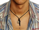 SURFER Australia Mens NECKLACE LEATHER Man Rope Chain Pendant Tusk Cross Cord <br/> Local League Sydney - Men&#039;s Unique Pendant Necklaces