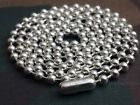 "925 Solid Sterling Silver Ball Chain 3.2mm 20"", 24"", 27"", 30"", 36"" and 42"""