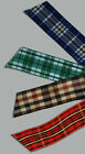 "4-yd 1"" inch TARTAN PLAID Woven Ribbon Blue Red Green Brown Double-face trim"