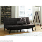 Leather Faux Tufted Futon Convertible Modern Sleeper Fold Down Bed Couch Sofa