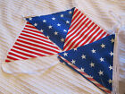 Handmade Fabric Bunting 12FT (over 3.5 Metres) Stars & Stripes - FREEPOST