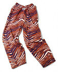 Zubaz Pants: Navy/Orange Zubaz Zebra Pants- New