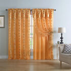 Home hardware window prices - 2 Pack: VCNY Home Embroidered Double Layered Curtain Panels - Assorted Colors