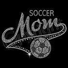 Soccer Mom Rhinestones Sweatshirt Hooded Hoodie Bling Unisex Sweatshirts