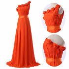 Elegant Floral Long Chiffon Gown Evening Prom Party Formal Bridesmaid Dress 6-20