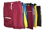 MENS SWIMMING SHORTS / TRUNKS COLOURED PLAIN COTTON MESH LINED SIZE MEDIUM