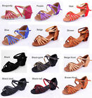 Quality New Cheap Child Woman Satin Latin Salsa Ballroom Dance Shoes 3.5CM Heel