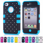 Candy Color Protector Dustproof Skin Case Cover Shell Of Apple iPhone 4/4S JS
