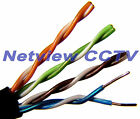 CAT5e Cable Pure Solid Copper External Duct Grade for IP Cameras UnTerminated