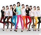 HO AU New Women Skinny Slim Candy Color Stretch High Waist Pencil Pants Leggings