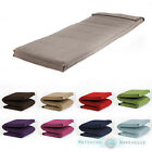 Single Size Futon Mattress Folding Foam Filled Removeable Fabric Cover 1 Seater