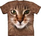 Striped Cat Face Adulto  Animals Unisex T Shirt The Mountain