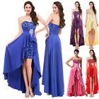 Long Sequins Bridesmaids Formal Party Prom Evening Dress Gown Watermelon UK 6-20