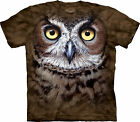 Great Horned Owl Adulto  Animals Unisex T Shirt The Mountain