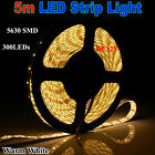 5M SMD5630 60LED/M 300leds Warm/Cool Flexible Strip Light Waterproof IP65 12V