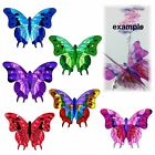 8x TRANSPARENT PRE-CUT 3D LEADLIGHT  BUTTERFLY WING #1 for crystal suncatcher